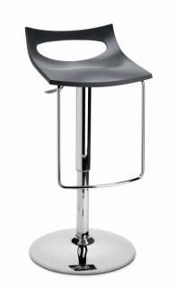 Design Barhocker anthrazit modern Höhe verstellbar - Vorschau