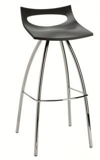 Design Barhocker, Farbe anthrazit, Sitzhöhe 80 cm