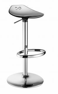 Design Barhocker modern anthrazit transparent Höhe verstellbar - Vorschau