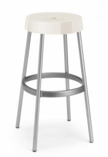 Design Barhocker, Farbe leinen, Aluminium