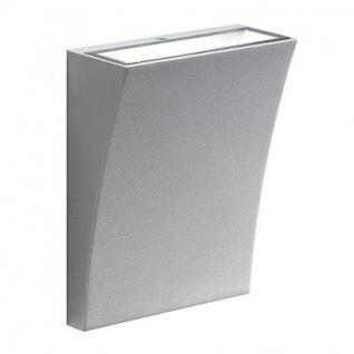 LED Wandleuchte Aluminium/Glas weiß LED 3000K