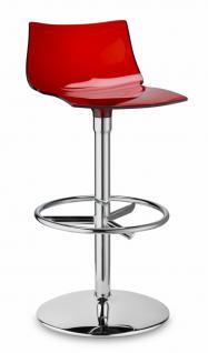 Design Barhocker rot transparent stylisch drehbar - Vorschau