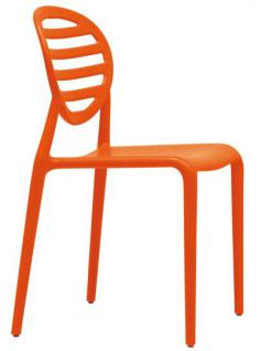 Design Stuhl Kunststoff modern orange