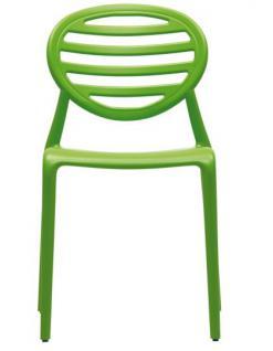 Design Stuhl Kunststoff modern grün