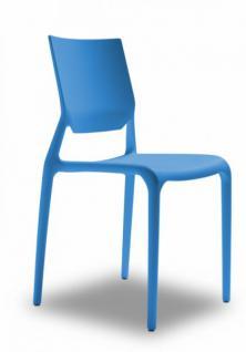 Design stuhl kunststoff blau kaufen bei richhomeshop for Design stuhl kunststoff