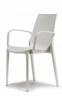 design gartenm bel stuhl kunststoff leinen wei glasfaser kaufen bei richhomeshop. Black Bedroom Furniture Sets. Home Design Ideas