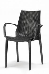 design gartenm bel stuhl kunststoff anthrazit glasfaser kaufen bei richhomeshop. Black Bedroom Furniture Sets. Home Design Ideas