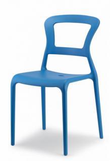 Design Stuhl Kunststoff blau modern Outdoor geeignet