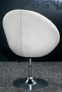 Design Sessel mit Zierknöpfen modern in weiß - Vorschau 4