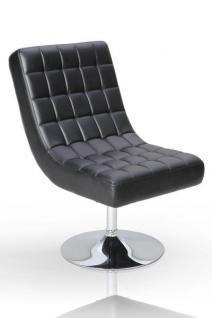 Design Sessel Pilot modern in schwarz