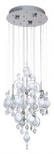 Design Pendelleuchte, Chrom mit Kristallen, Höhe 120 cm
