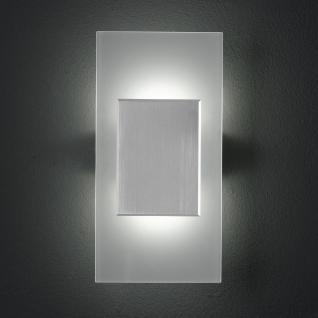 Design LED Wandleuchte, Glas, matt, rechteck - Vorschau
