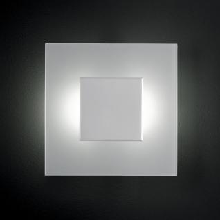 Design LED Wandleuchte, Glas, matt, quadrat