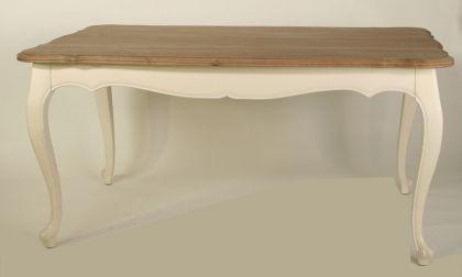 Tisch im Landhausstil, Eiche natur in creme