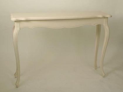 Wandtisch im Landhausstil, Birke in creme