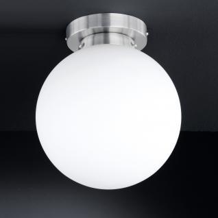 Design Deckenleuchte, Badezimmer, silber, weiß, Höhe 28 cm