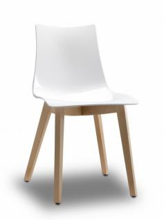 Design Stuhl Buche Natural Holz weiß