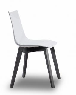 Design Stuhl Wenge Buche Holz weiß