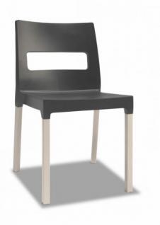 Design Stuhl ausgebleichte Buche Holz anthrazit - Vorschau