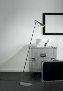 Steh-/ Leseleuchte Metall grau