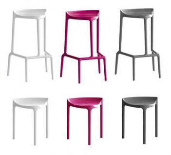 Barhocker weiß und in vier weiteren Farben, stapelbar, Sitzhöhe 75 cm - Vorschau 2