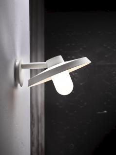 Wandleuchte Aluminium weiß Glas Outdoor