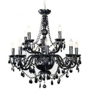 kronleuchter schwarz glas g nstig kaufen bei yatego. Black Bedroom Furniture Sets. Home Design Ideas