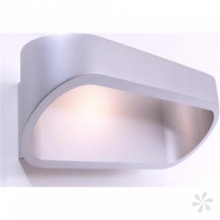 Wandleuchte Alu Druckguß, matt-silber, LED