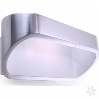 Wandleuchte Alu Druckguß, weiß, silber-glänzend, LED