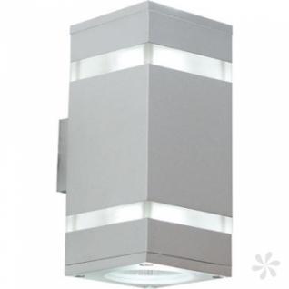 Wandleuchte aus Acrylglas, Aluminium, matt-silber, LED