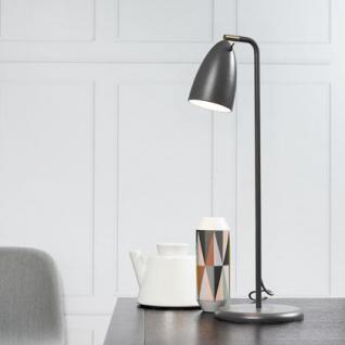 Tischleuchte Metall PVC grau LED - Vorschau 1