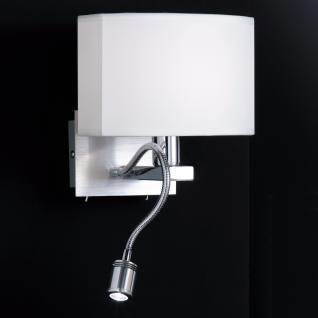 Design Wandleuchte mit LED Leuchte, chrom/matt