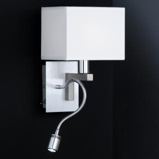 Design Wandleuchte mit LED Leuchte, chrom/matt - Vorschau