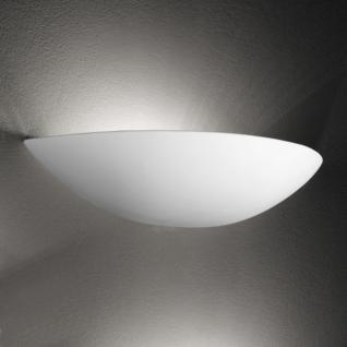 Design Wandleuchte, Keramik/weiß, Breite 34 cm
