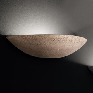 Design Wandleuchte, Keramik/braun, Breite 34 cm