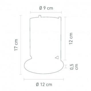 Tischleuchte Metall satin Glas weiß modern dimmbar - Vorschau 2
