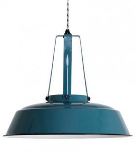 Pendelleuchte, Pendellampe, Industriedesign Hängelampe, Farbe türkis-blau