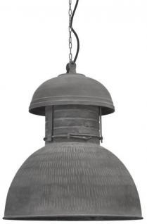 Hängeleuchte Fabrikart XL, Pendelleuchte Industriedesign Ø 42 cm, Farbe grau matt
