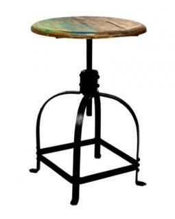 barhocker aus metall und holz im industriedesign sitzh he. Black Bedroom Furniture Sets. Home Design Ideas