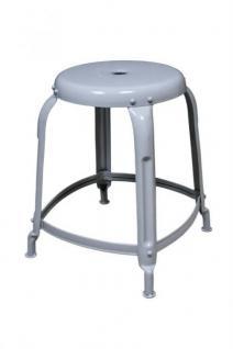 Hocker aus Metall im Industriedesign, Sitzhöhe 46 cm - Vorschau 1