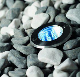 Einbauleuchte rostfreier Edelstahl Glas PVC LED 3er Set modern - Vorschau 1