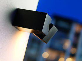 Wandleuchte Aluminium schwarz Outdoor Energiesparer - Vorschau 1