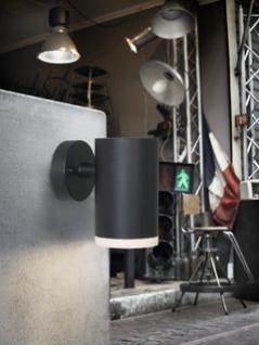 Wandleuchte Aluminium schwarz PVC Outdoor
