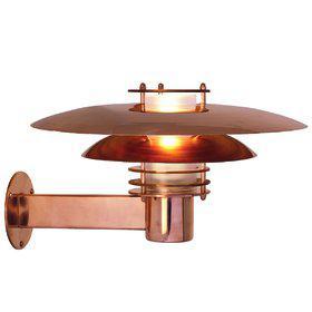 Wandleuchte Metall kupfer Glas Outdoor 15 Jahre Anti-Rost-Garantie Energiesparer - Vorschau 2