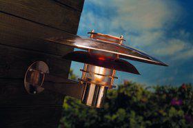 Wandleuchte Metall kupfer Glas Outdoor 15 Jahre Anti-Rost-Garantie Energiesparer