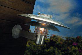 Wandleuchte Metall verzinkt Glas Outdoor 15 Jahre Anti-Rost-Garantie Energiesparer - Vorschau 1