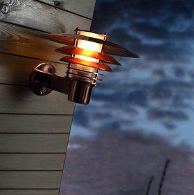 Wandleuchte Metall kupfer PVC Outdoor 15 Jahre Anti-Rost-Garantie Energiesparer