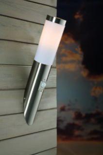 Wandleuchte rostfreier Edelstahl PVC Metall Outdoor Bewegungssensor