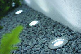 Einbauleuchte rostfreier Edelstahl PVC Glas LED modern 3er-Set