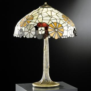 Design Tischleuchte, Tiffany champ/braun, echte Handarbeit